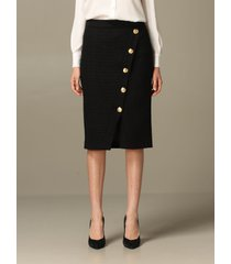 boutique moschino skirt boutique moschino pencil skirt in bouclé wool blend