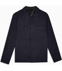 mens selected homme navy zip through jacket