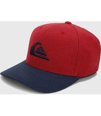 gorra rojo-azul quiksilver flexifit mountain and wave