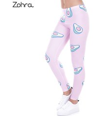 fashion printed women legging 100% brand new leggings avocado pink leggins sexy