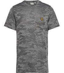camo run t-shirt t-shirts short-sleeved grå lyle & scott sport