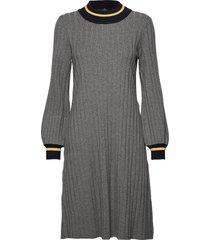jaqueline knit dress knälång klänning grå morris lady