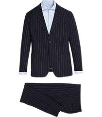 dkny navy seersucker slim fit suit