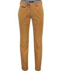 gardeur broek flatfront benny bruin oranje