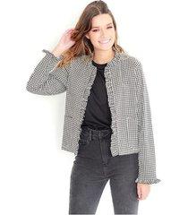 chaqueta desestructurada, estampado multicolor, manga larga, cuello redondo color-multicolor-talla-xs