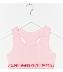 womens badass babes club racerback bralette - pink