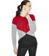 sweater manga larga liso multicolor  curvi