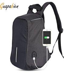 mochila multifuncional al aire libre de la interfaz usb del viaje
