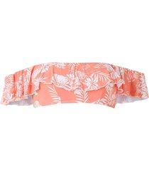 track & field gipsy printed bikini top - pink