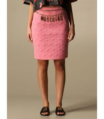 moschino couture skirt moschino couture short pencil skirt with jewel chain