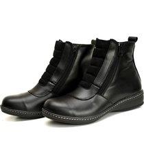 botineta de cuero negro valentia calzados brenda 22
