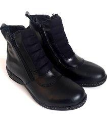 botineta negra valentia calzados brenda 22 cuero