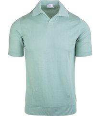 fedeli aquamarine fuji supima frosted man polo shirt