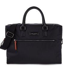 ted baker men's top-zip messenger bag - black