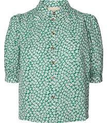 blouse met bloemenprint zoe  groen