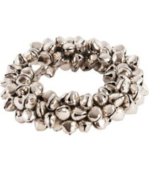saro lifestyle petite jingle bell napkin ring, set of 4