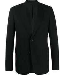 ami button-front blazer - black