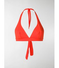 gentry portofino halterneck bikini top