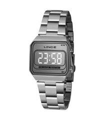 relógio digital lince unissex - mdm4644l sxsx prateado