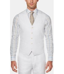 perry ellis men's linen solid vest