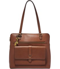 fossil kinley leather shopper