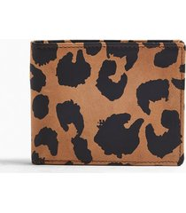 mens multi leopard print wallet