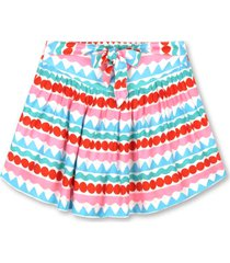stella mccartney graphic striped shorts