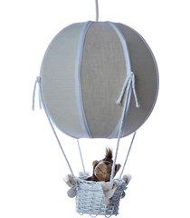 lustre balão bolinha floresta quarto safári bebê infantil potinho de mel bege