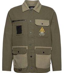 drill chore coat military dun jack groen vans