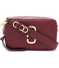 marc jacobs zip-up leather crossbody bag - red