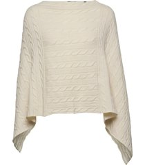 d2. lambswool cable poncho poncho regnkläder creme gant
