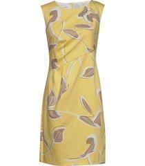 dress woven fabric jurk knielengte geel gerry weber