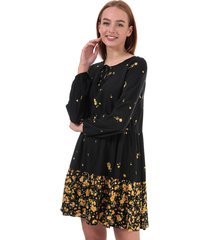 womens alisa life long sleeve floral dress