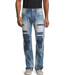distressed rebel straight-fit jeans