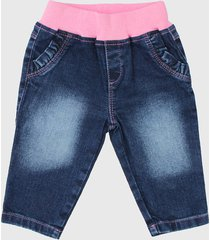 pantalón azul con amor elastizado