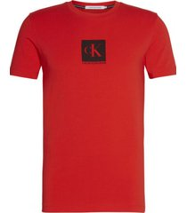 polera slim center monogram rojo calvin klein
