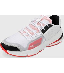 tenis lifestyle blanco-negro-coral under armour ua forge rc