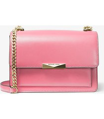 mk borsa a tracolla jade grande in pelle - shell pink - michael kors