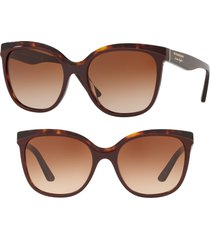 burberry marblecheck 55mm square sunglasses in bordeaux gradient at nordstrom