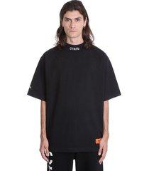 heron preston turtleneck ctnm t-shirt in black cotton