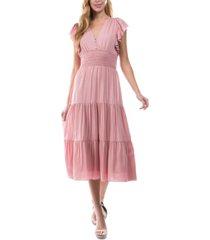 lucy paris tiered midi dress