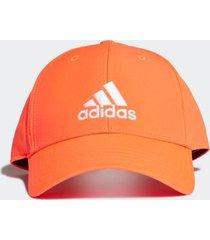 boné adidas baseball logo laranja neon - único