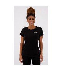 camiseta puma essentials feminina preta