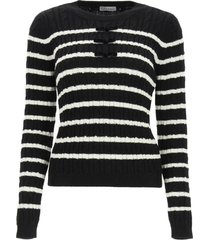 red valentino striped sweater with bows