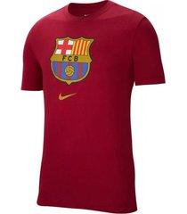 camiseta nike barcelona evergreen crest - bordó