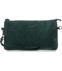 bolsa carteira mão couro verde