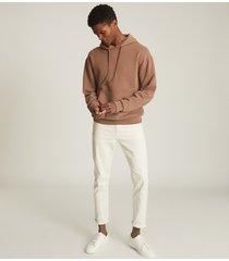 reiss field - oversized hoodie in rust, mens, size xxl