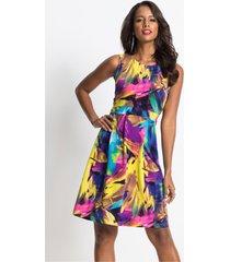 jurk met kleurrijke print