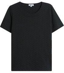 camiseta mujer textura color negro, talla 10