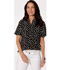blouse mona zwart::wit
